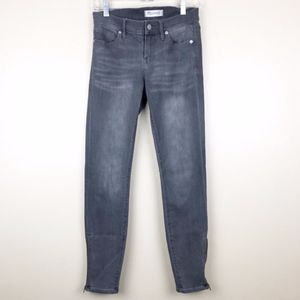 Madewell Skinny gray ankle zipper Jean size 26